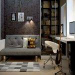 Great Small Modern Home Office Interior Design