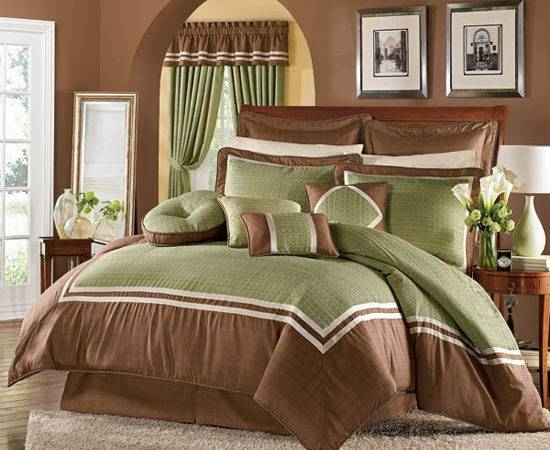 Green Brown Bedroom Decoration Ideas Home