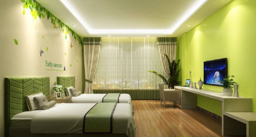 Green Campaign Theme Hotel Room House