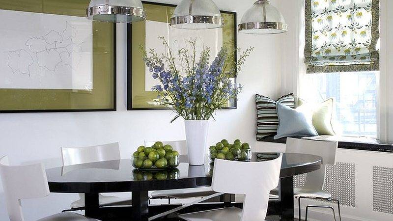 Green Create Fabulous Dining Room