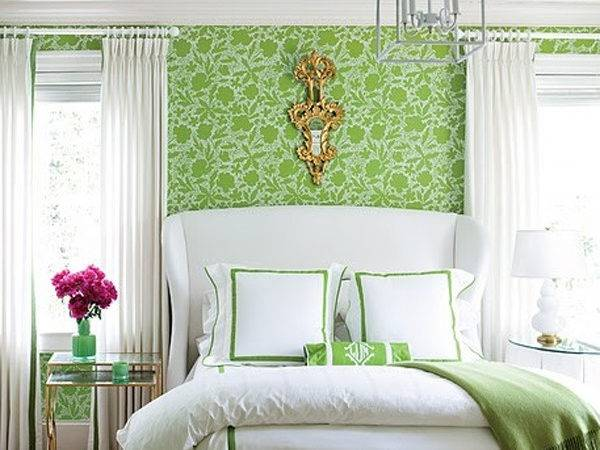 Green Floral Bedroom Theme
