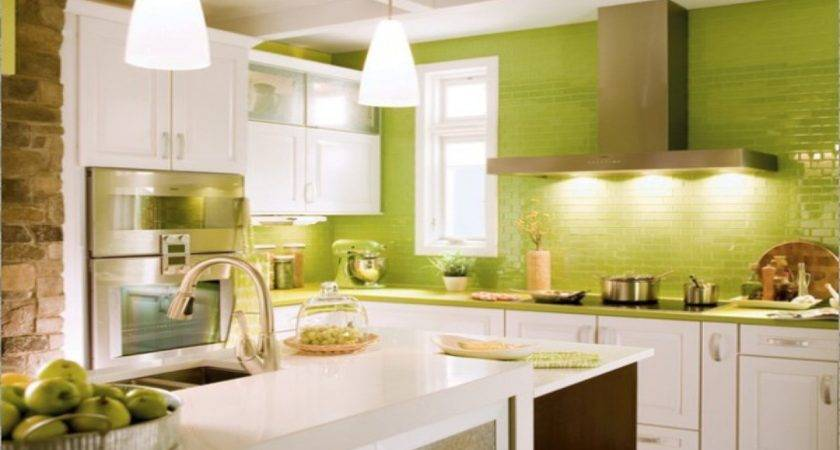 Green Kitchen Flooring Yellow Kitchens Inspiring Light