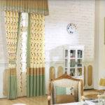 Green Light Beige Bedroom Curtains Valance