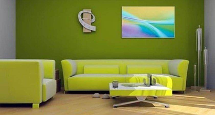 Green Living Room Color Scheme Two Different Tones