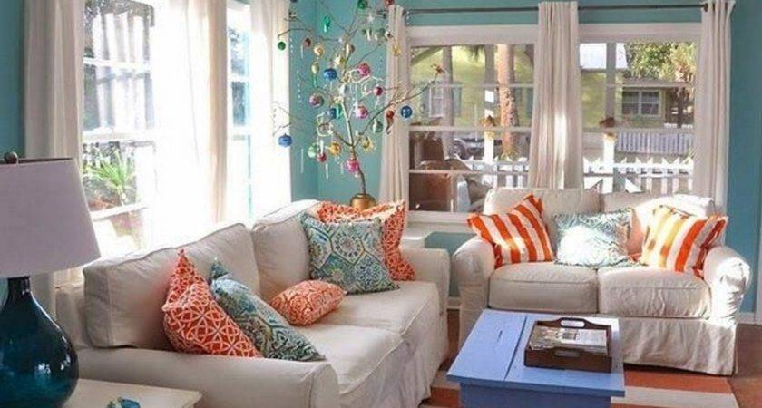 Green Orange Living Room Ideas Home Decorations