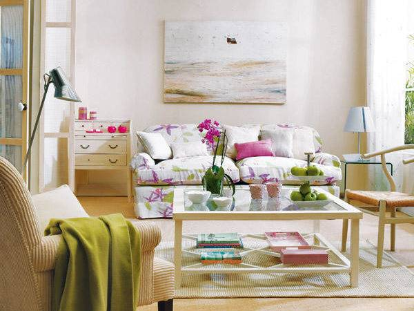 Green Purple Living Room Cor