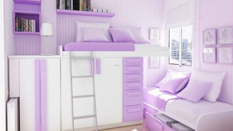 Green Purple Teenage Girls Bedroom Color Themes