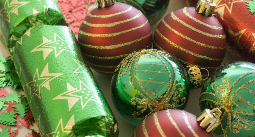 Green Red Decorations Christmas