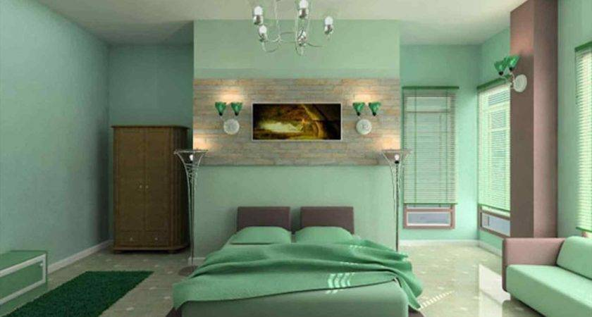 Green Sofa Color Wall Paint Large Small