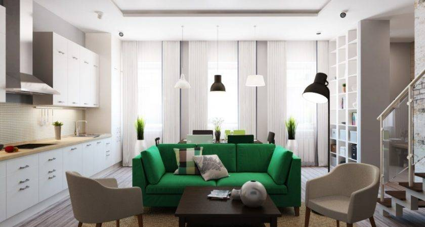 Green Sofa Interior Design Ideas