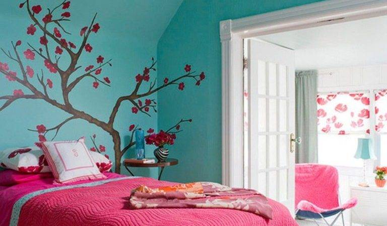 Green Wall Living Room Decorate Bedroom