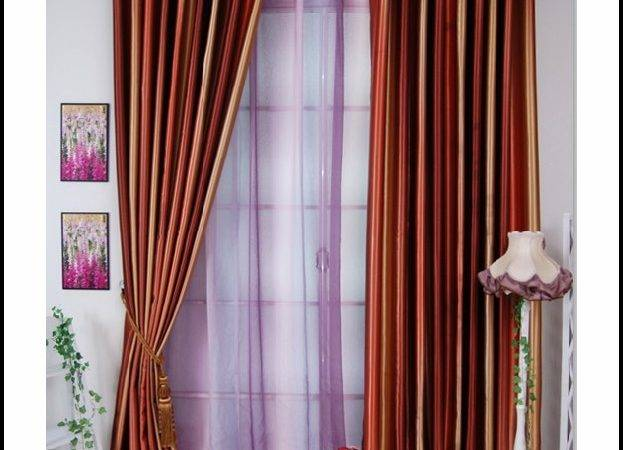 Green Walls Orange Curtains Home Design