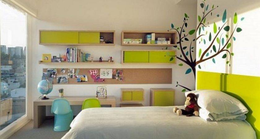 Green White Kids Bedroom Floral Home