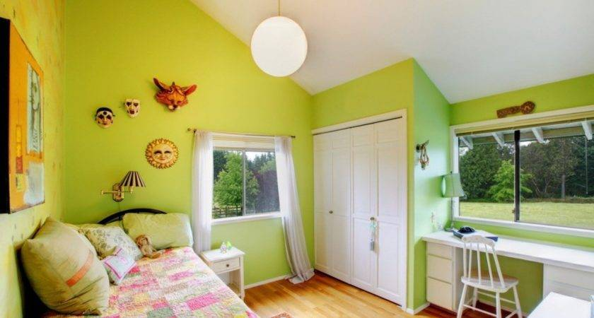 Green Youth Bedroom Interior Design House