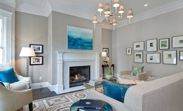 Greige Paint Colors Contemporary Living Room