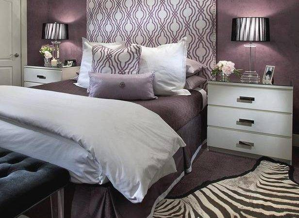 Grey Bedroom Purple Accents