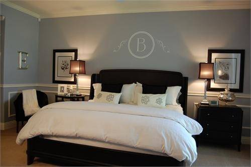 Grey Blue Bedroom Dark Furniture