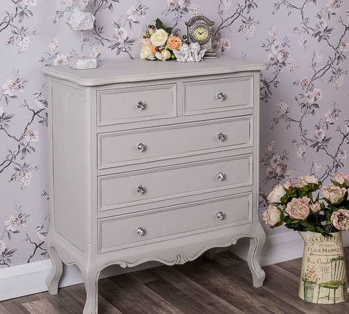 Grey Chest Drawers French Ornate Bedroom Furniture