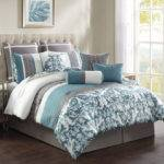 Grey Comforter Set Temsia Gray White