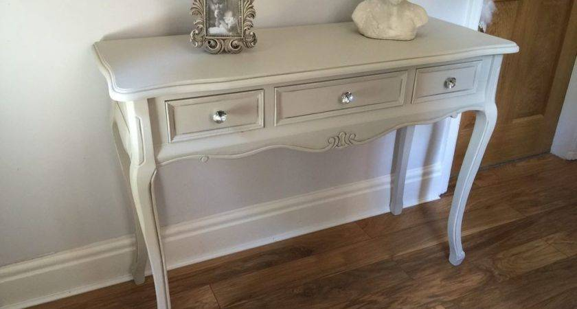 Grey Dressing Console Table Crystal Bedroom Furniture