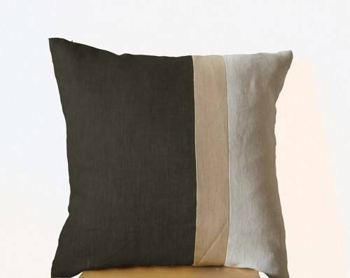 Grey Pillow Throw Pillows Color Block Couch