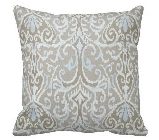 Grey Pillows Blue Pillow Covers Couch Decorative