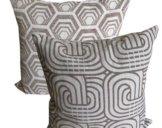 Grey Pillows Covers Sofa Throw Pillow