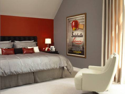 Grey Red Bedroom Ideas