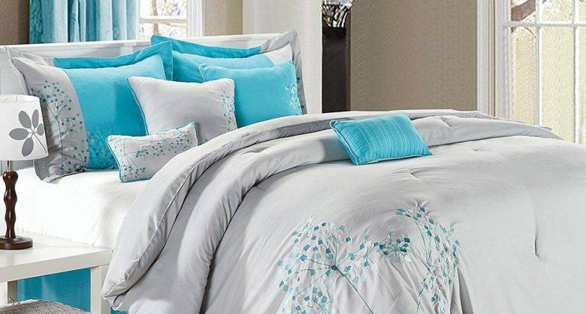 Grey Turquoise Bedding Decorate House