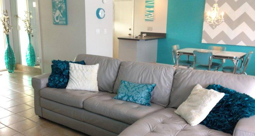 Grey Turquoise Living Room Modern Home Design Ideas