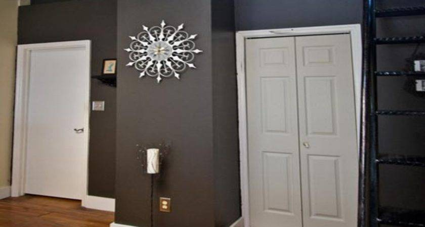 Grey Wall Designs Blue Paint Color