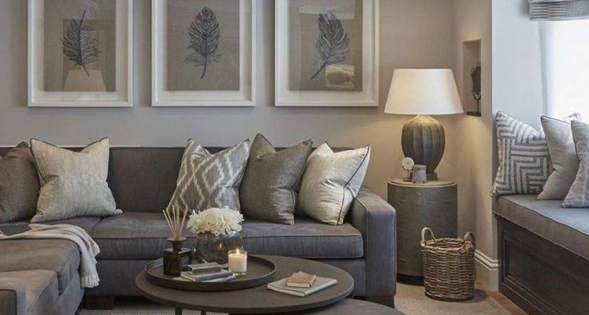 Grey Walls Living Room Ideas Dark Sectional Decorating