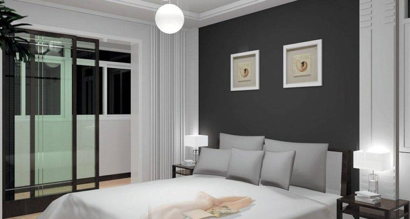 Grey White Bedroom Home Decor Gray Curtains