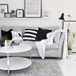 Halcyon Wings Black White Grey Living Room