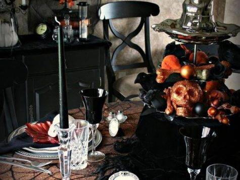 Halloween Party Table Decoration Ideas Photograph Spooky