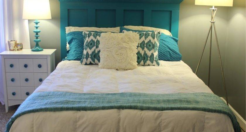 Handcrafted Life Teal White Grey Guest Bedroom