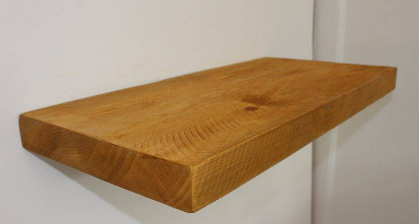 Handcrafted Rustic Reclaimed Chunky Wooden Floating Shelf