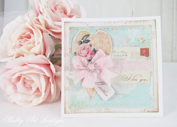 Handmade Shabby Chic Mother Day Card Art Boutique