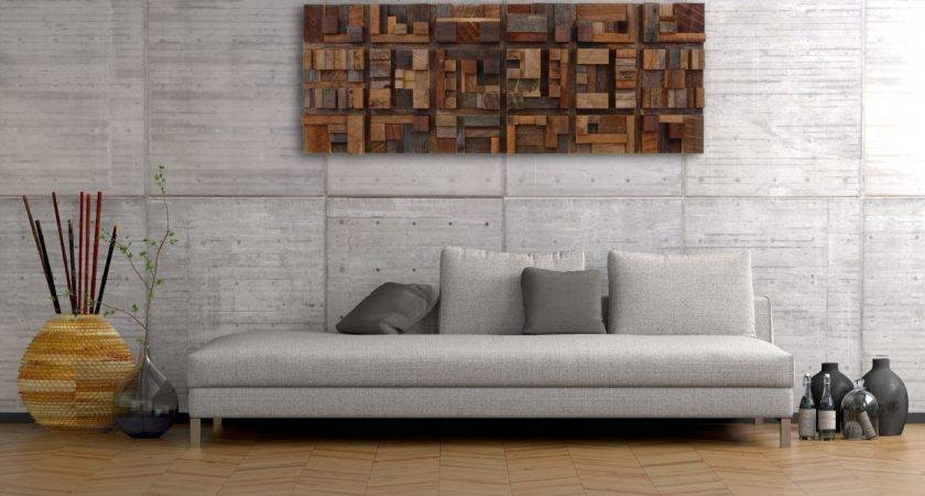 Handmade Wood Wall Art Geometric Shapes Reclaimed