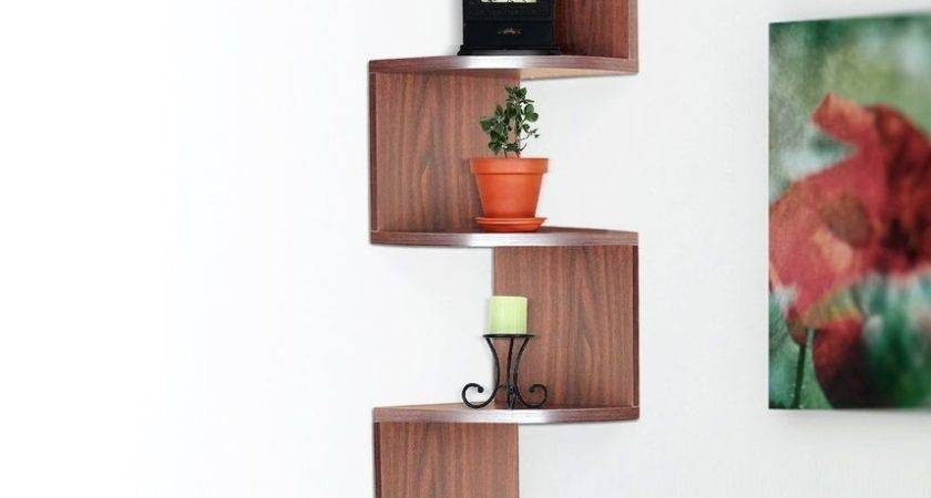 Hanging Corner Shelves Wall Mount Storage Rack Shelf Home