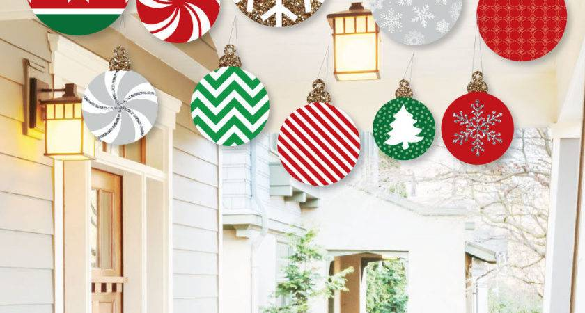 Hanging Ornaments Outdoor Christmas Porch Tree Yard