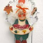 Harvest Angel Door Hanger Fall Wood Decor Autumn