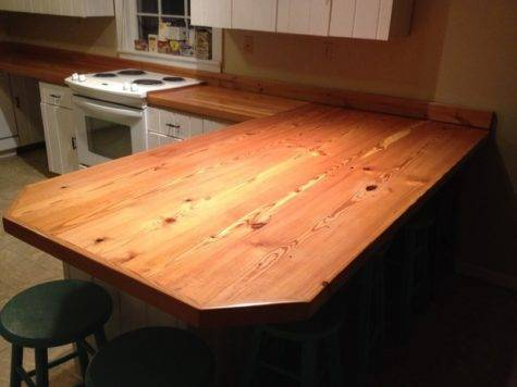 Heart Pine Countertops Kitchen Other Metro Seale
