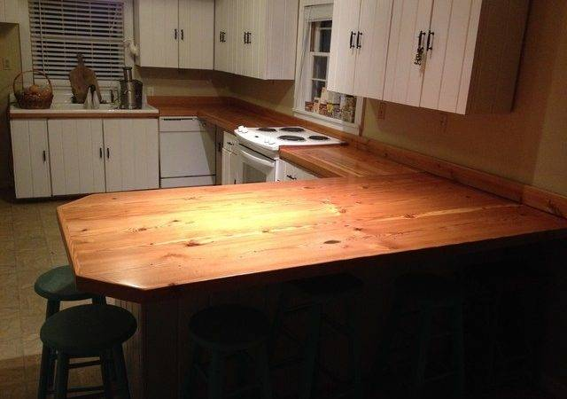 Heart Pine Countertops Kitchen