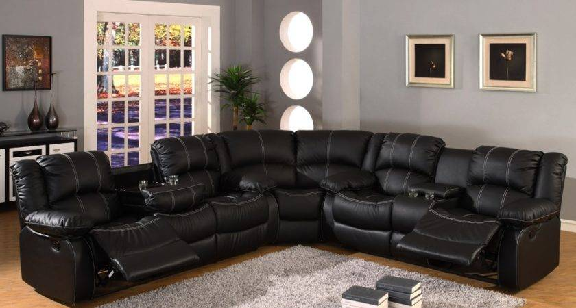 Heavenly Black Leather Modern Sofa Design Idea Awesome
