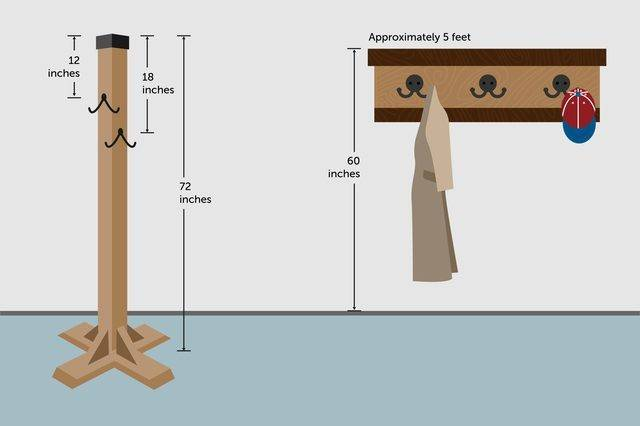 Height Wall Hang Coat Rack