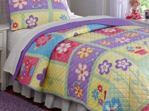 Helena Twin Single Quilt Set Teen Girls Sweet Purple