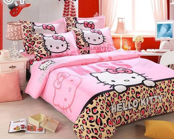 Hello Kitty Bedding Set Cotton High Quality King
