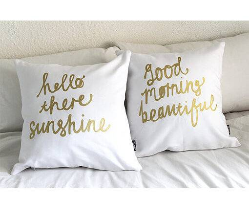 Hello There Sunshine Good Morning Beautiful Pillow Cover