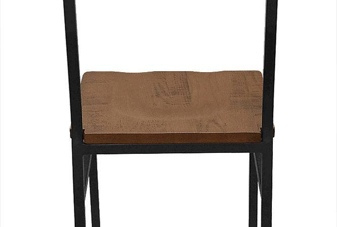 Henry Steel Chair Distressed Wood Bar